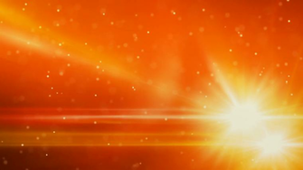 orange light flares and particles loop background Motion