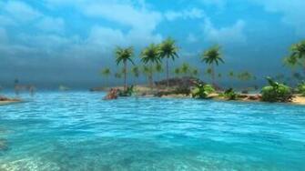 Animated Desktop Wallpaper   Tropical Skyrim 2   Sunny Beach