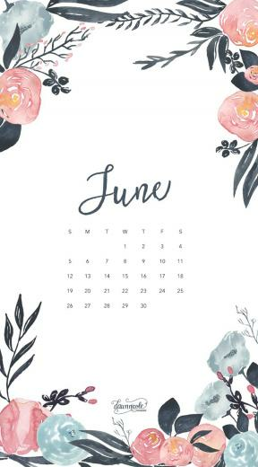 Wallpaper with June 2018 Calendar for PC iPad and SmartPhone