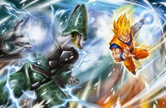 Goku vs Cell Dragon Ball Z   Fondos de Pantalla HD   Wallpapers HD