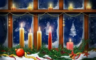Christmas Lighting Candles Wallpapers HD Wallpapers