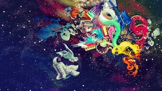 psychedelic space Desktop and mobile wallpaper Wallippo
