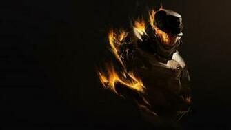 Download Wallpaper 3840x2160 Halo Fire Soldier Armor 4K Ultra HD HD