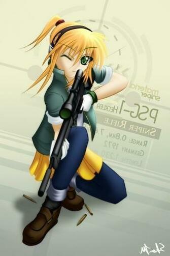 Sniper Girl Anime iPhone HD Wallpaper iPhone HD Wallpaper download