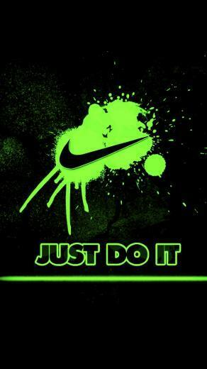 Green Nike Splash iPhone 5 Wallpaper 640x1136