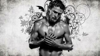 Charlie Hunnam wallpaper BW by aranel80