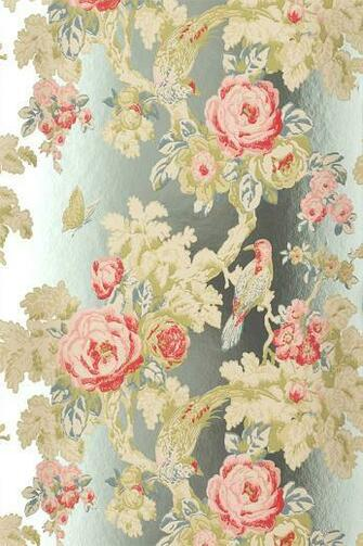 Anna French Wallpapers Wild Flora Bird in the Bush Foil buy online