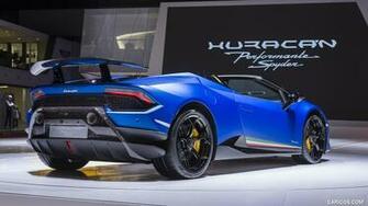 2019 Lamborghini Huracn Spyder Performante at Geneva Auto Show