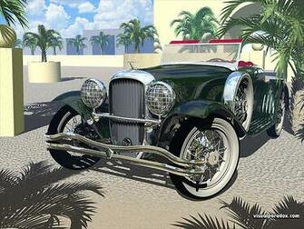 shiny old polished cars auto automobile autos 3d wallpaper
