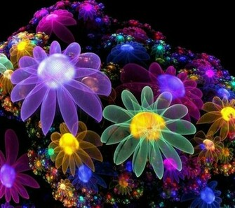 Neon Flower Wallpaper Purple