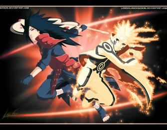Epic Battle Madara Uchiha vs Naruto Uzumaki by LiderAlianzaShinobi on