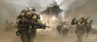 Gears of Halo Halo Concept Art by various Bungie Artists