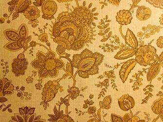 Los Robles Mobile Park Retro Harvest Gold Floral Wallpape Flickr