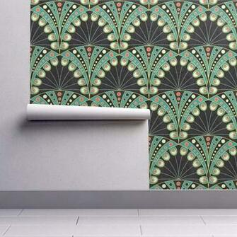 Peel and Stick Removable Wallpaper   Peacock Feather Peacock