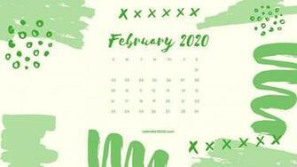 February 2020 Calendar Wallpapers