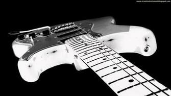 Guitar Wallpaper   Black And White Fender Stratocaster Electric Guitar