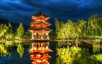 chinese pagoda background wallpaper widescreen walls