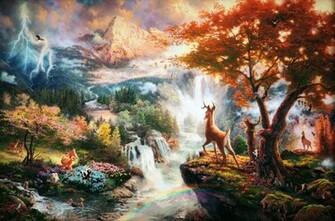 Thomas Kinkades Disney Paintings   Bambi wallpaper photos 28821938