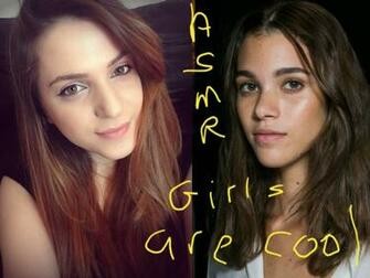 Alpaca and ElleBelle picha ASMR girls HD karatasi la kupamba ukuta