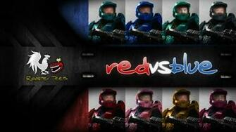 wallpaper for Red Vs Blue made with photoshop Comments are welcome