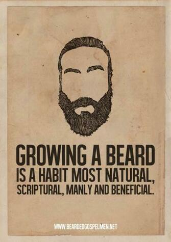 A Beard Man is a Real Man Quotes Posters