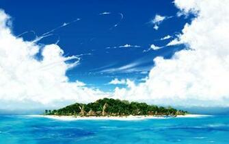 Distant Island desktop wallpaper