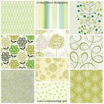 10 best green wallpaper interior design cosy home decorating ideas