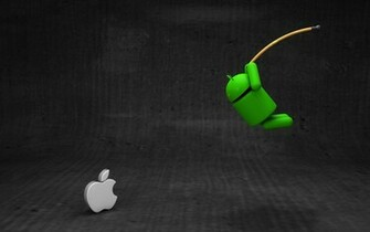 Android vs Apple android apple black brand fun gray