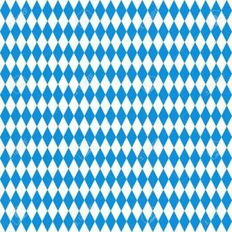 Oktoberfest Checkered Background Blue Diamonds On White Seamless
