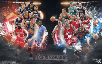 nba playoffs wallpaper by kevin tmac d8pv9z5png