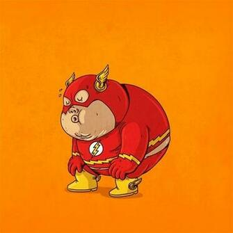 Flash fat superhero dc comics comics cartoon wallpaper 1600x1600