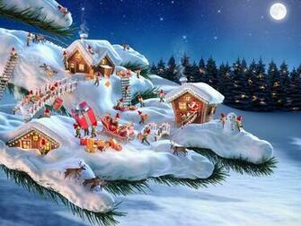 Santa and his Elves 4K HD Desktop Wallpaper for 4K Ultra HD TV