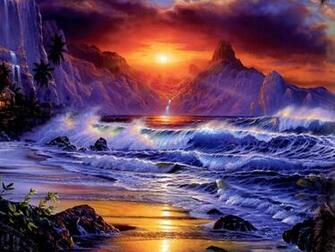 Amazing Fantasy Sunset computer desktop wallpaper