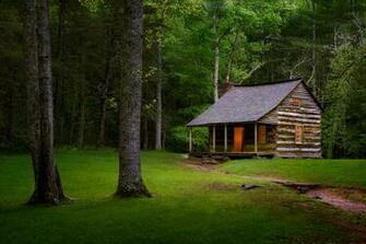 Carter Shields Cabin Great Smoky Mountains National Park Title