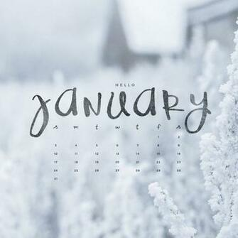 Hello January Downloadable Calendar Freebie   To Live