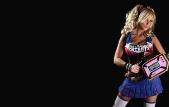Wallpaper Blonde cosplay Lollipop Chainsaw Jessica Nigri images
