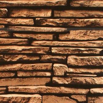 Natural Grey Brick Wall Stone Rock Slate Effect 10M Vinyl Wallpaper