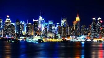 New York City at Night Wallpaper HD wallpaper background