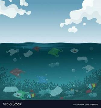 An marine pollution background Royalty Vector Image