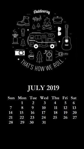iPhone July 2019 Calendar Wallpaper Backgrounds Wallpapers in