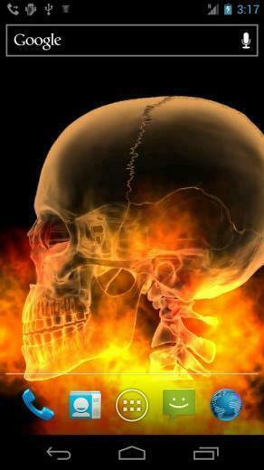 Skull Fire Live Wallpaper Aplikacje Android w Google Play