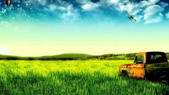 Cool Green Old Trucks Natural Large HD Wallpapers   Large