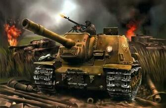 World of Tanks Painting Art SPG ISU 152 tank military battle