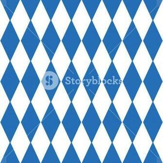 Oktoberfest checkered background and Bavarian flag pattern eps