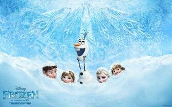 Olaf and Hans Disneys Frozen CG animated movie wallpaper image