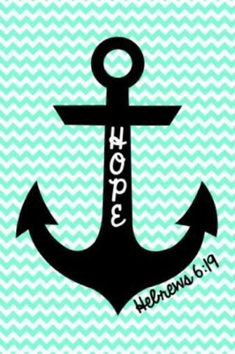 Cute anchor on chevron wallpaper