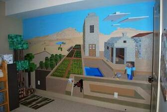 wall mural Alijahs minecraft room Pinterest Minecraft Wall