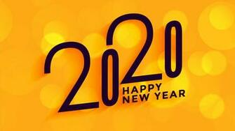 download download 2020 Happy New Year Yellow 4K Wallpaper HD