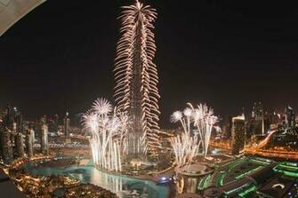 Fireworks At Burj Khalifa New Year Desktop Wallpapers