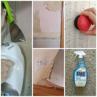 DIY IDEAS HOW TO REMOVE WALLPAPER